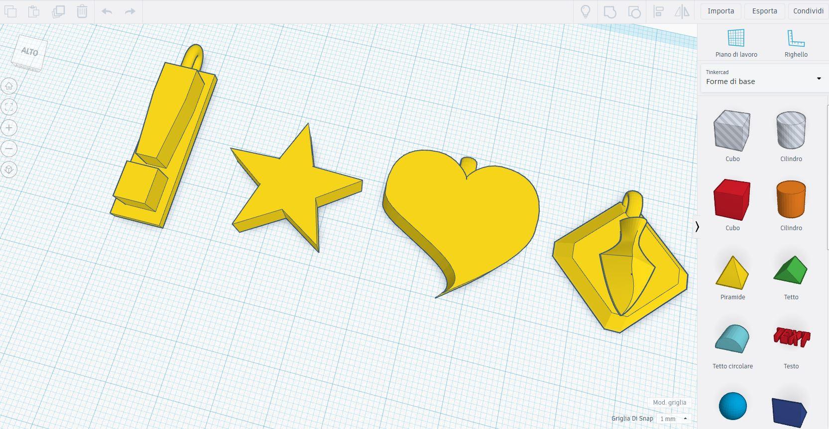 Tinkercad la modellazione 3d semplice per tutti stampa for Disegno 3d online