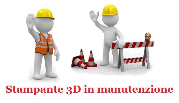 3-6 Manutenzione della stampante 3D - Il piano